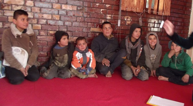 Street kids visiting to APV compound