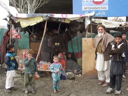 Refugee camp in the Perwan Dodo area of Kabul.