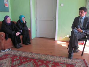 Talking with Afghan Action Manager