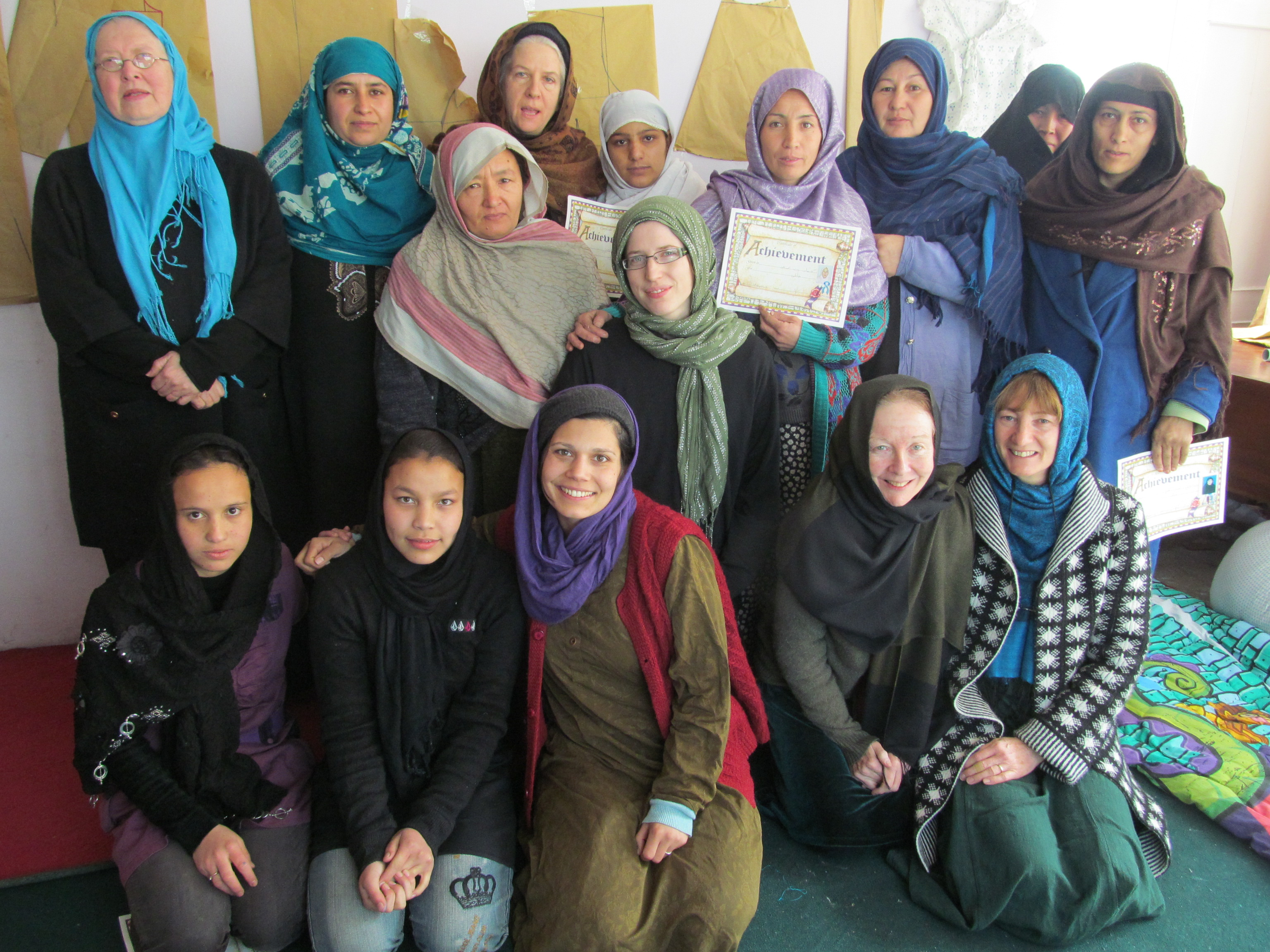 UK delegation with Pandora's Hope- women's seamstresses co-operative