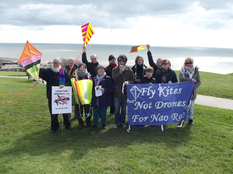 Hastings fly kites on West Hill overlooking the sea