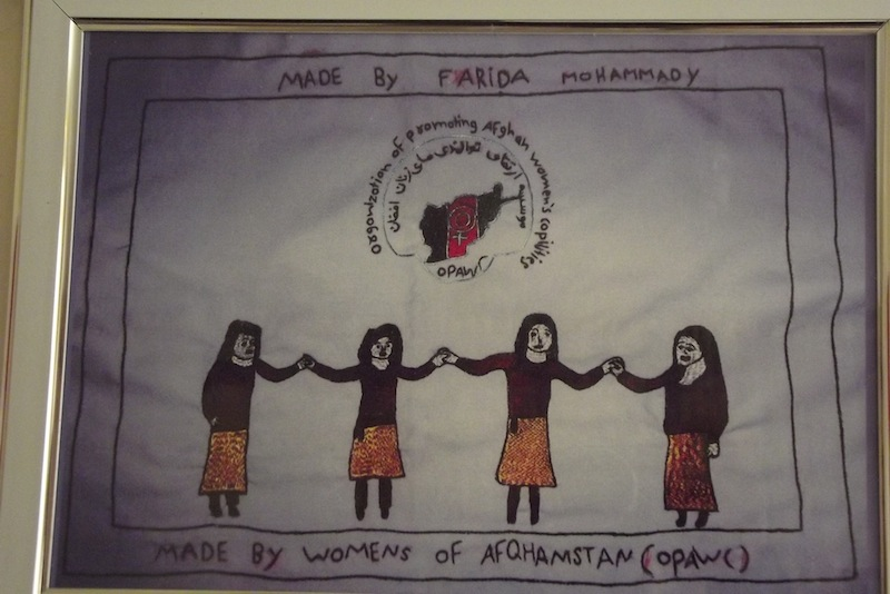 Artwork by Afghan woman, as part of an OPAWC project