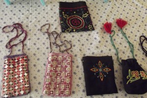 Craftwork by women at the OPAWC centre